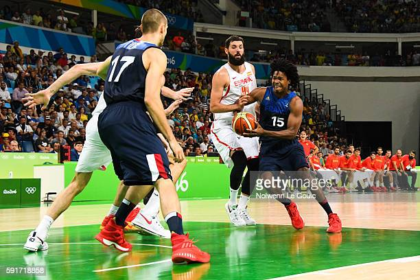 Mickael Gelabale of France during Basketball game betwenn France and Spain on Olympic Games 2016 in Rio at Carioca Arena 1 on August 17 2016 in Rio...