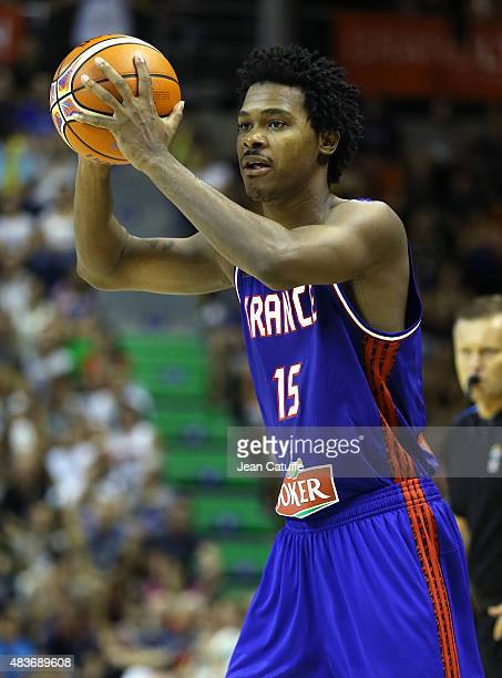 Mickael Gelabale of France in action during the international friendly basketball match between France and Russia in preparation of Euro Basket 2015...
