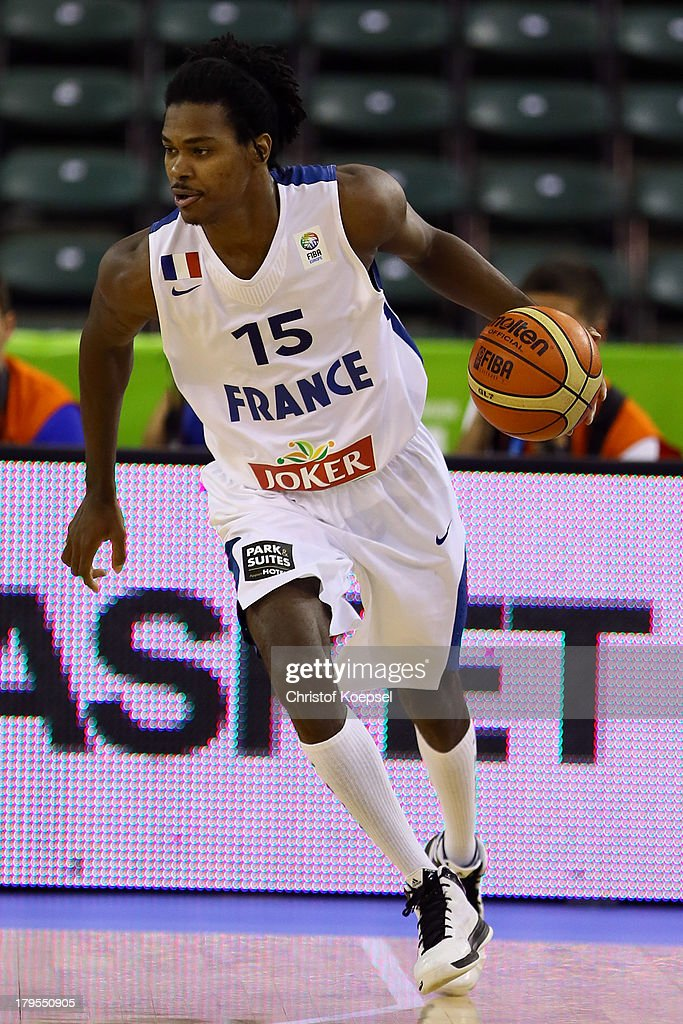 Mickael Gelabale of France leads the ball during the FIBA European Championships 2013 first round group A match between France and Germany at Tivoli Arena on September 4, 2013 in Ljubljana, Slovenia.