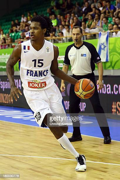 Mickael Gelabale of France leads the ball during the FIBA European Championships 2013 first round group A match between France and Israel at Tivoli...