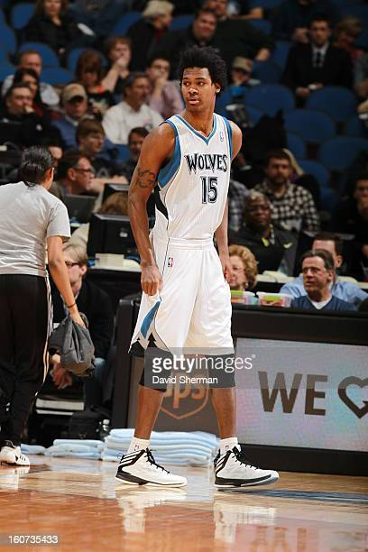 Mickael Gelabale of the Minnesota Timberwolves looks on during the game between the Minnesota Timberwolves and the Portland Trail Blazers on February...
