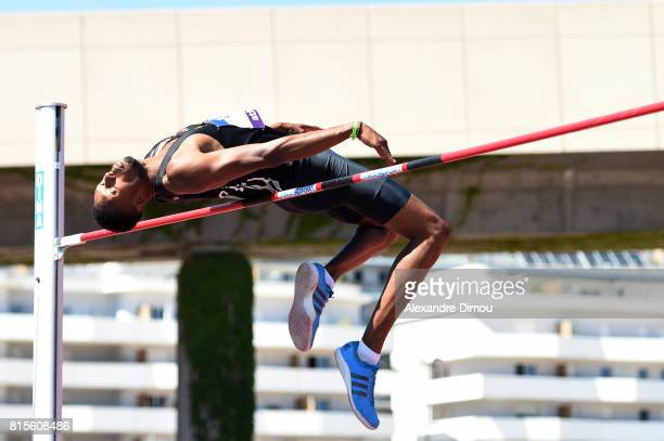 Mickael Hanany competes in High Jump during the French National Championships 2017 of athletics at Stade Pierre Delort on July 16 2017 in Marseille...