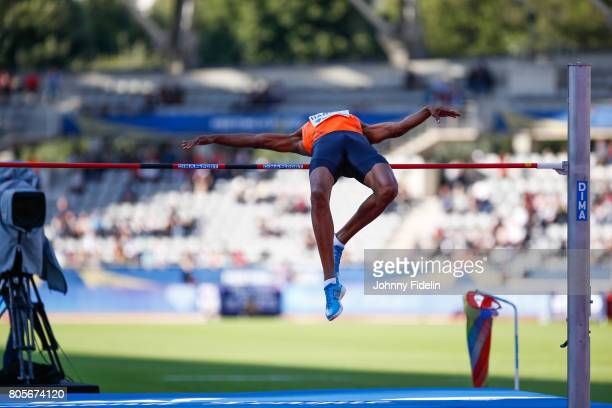 Mickael Hanany High Jump during the Meeting de Paris of the IAAF Diamond League 2017 on July 1 2017 in Paris France
