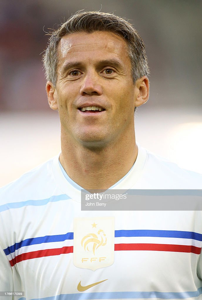 <a gi-track='captionPersonalityLinkClicked' href=/galleries/search?phrase=Mickael+Landreau&family=editorial&specificpeople=490956 ng-click='$event.stopPropagation()'>Mickael Landreau</a> of France poses before the international friendly match between Belgium and France at the King Baudouin Stadium on August 14, 2013 in Brussels, Belgium.