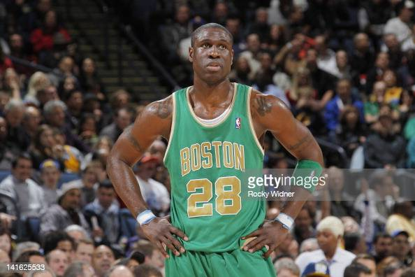 Mickael Pietrus of the Boston Celtics faces off against the Golden State Warriors on March 14 2012 at Oracle Arena in Oakland California NOTE TO USER...
