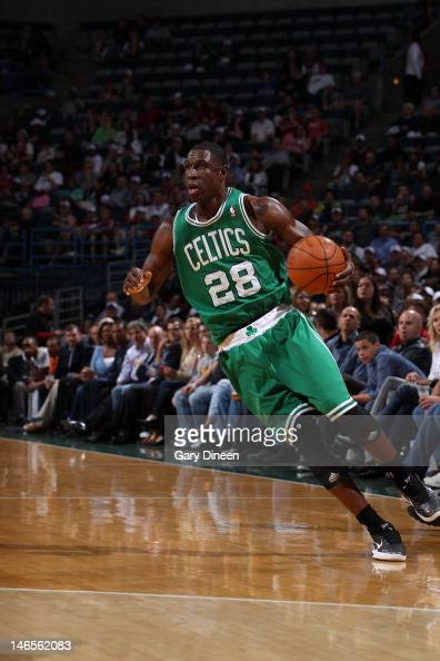 Mickael Pietrus of the Boston Celtics handles the ball against the Milwaukee Bucks on March 22 2012 at the Bradley Center in Milwaukee Wisconsin NOTE...