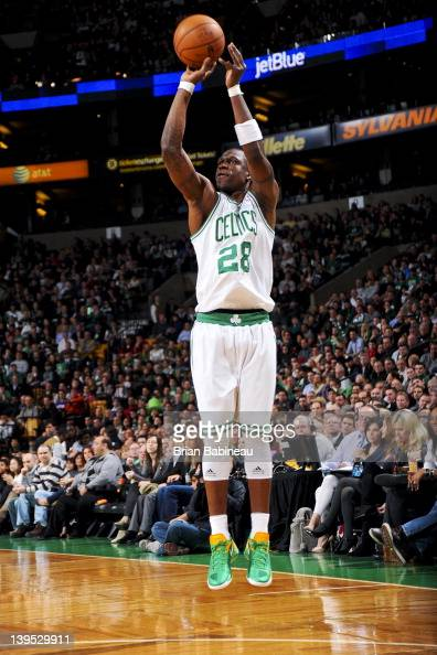 Mickael Pietrus of the Boston Celtics shoots against the Detroit Pistons on February 15 2012 at the TD Garden in Boston Massachusetts NOTE TO USER...