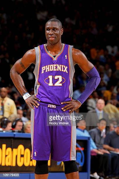 Mickael Pietrus of the Phoenix Suns gets ready to take on the Golden State Warriors on February 7 2011 at Oracle Arena in Oakland California NOTE TO...