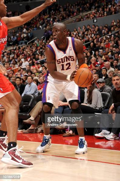 Mickael Pietrus of the Phoenix Suns moves the ball against the Los Angeles Clippers on December 26 2010 at Staples Center in Los Angeles California...