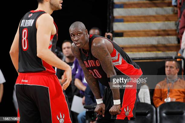 Mickael Pietrus of the Toronto Raptors in a game against the Sacramento Kings on December 5 2012 at Sleep Train Arena in Sacramento California NOTE...