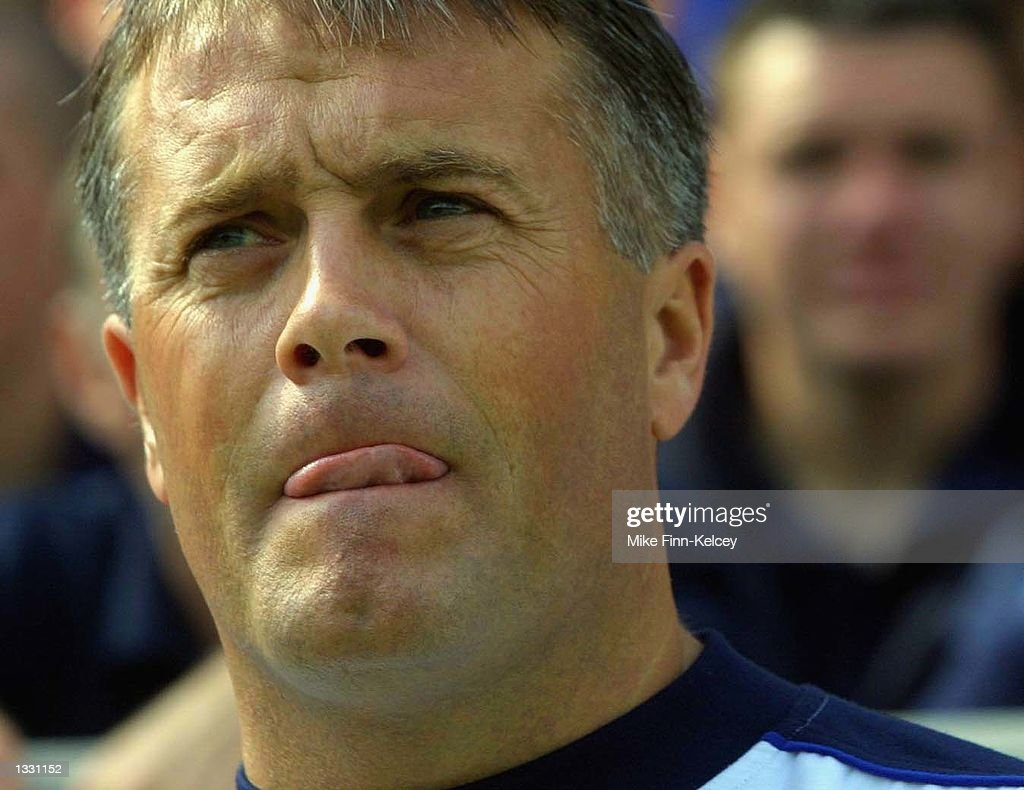 Mickey Adams, manager of Leicester City, wathces his side play Watford during the Nationwide League Division One match between Leicester City and Watford at the Walkers Stadium in Leicester on August 10, 2002. (Photo by Mike Finn-Kelcey/Getty Images).