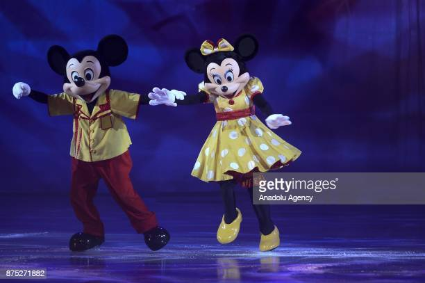 Mickey and Minnie characters perform during the Disney on Ice show at Tauron Arena Krakow Poland on the November 17 2017 Disney on Ice is a show...