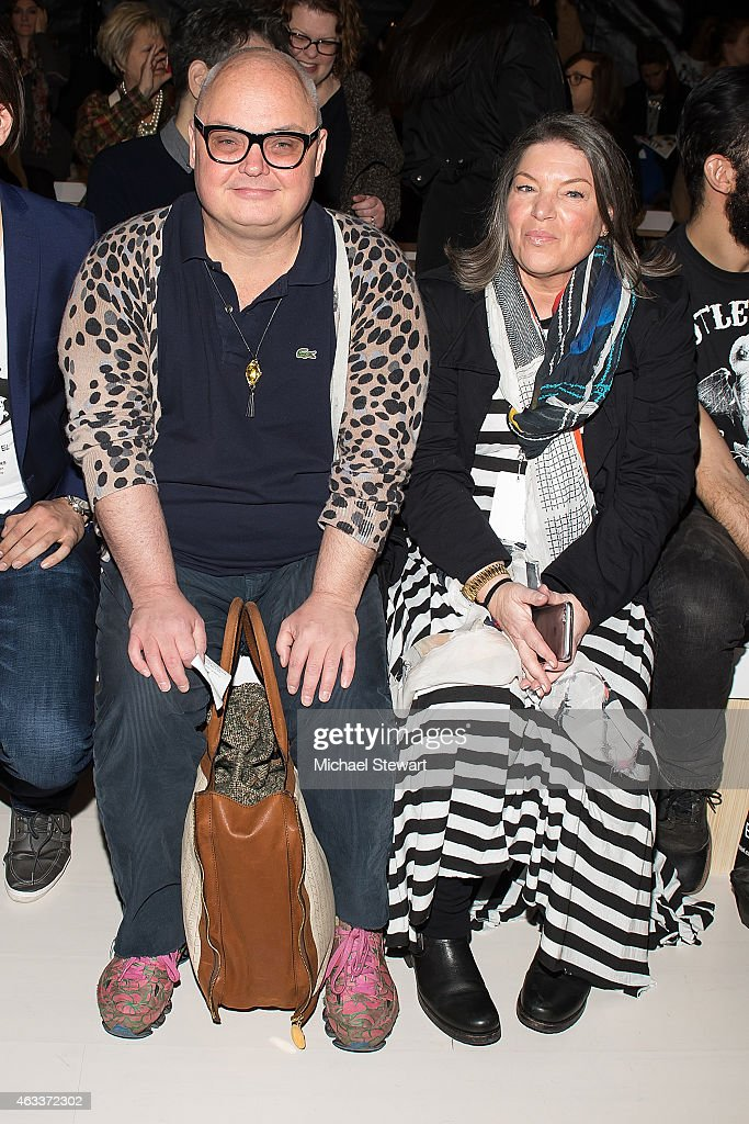 Mickey Boardman and Mindy Cohn attend the Mark And Estel show during MercedesBenz Fashion Week Fall 2015 at The Salon at Lincoln Center on February...