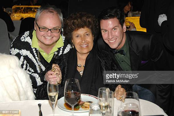 Mickey Boardman Carla Fendi and Peter Davis attend FENDI Great Wall Of China Fashion Show Dinner Afterparty at The Village at Sanlitun on October 19...