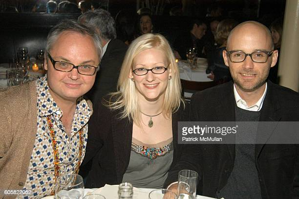 Mickey Boardman Natalie Underwood and Moby attend PAPER MAGAZINE Hosts Dinner for Pedro Almodovar at Indochine on October 5 2006 in New York City