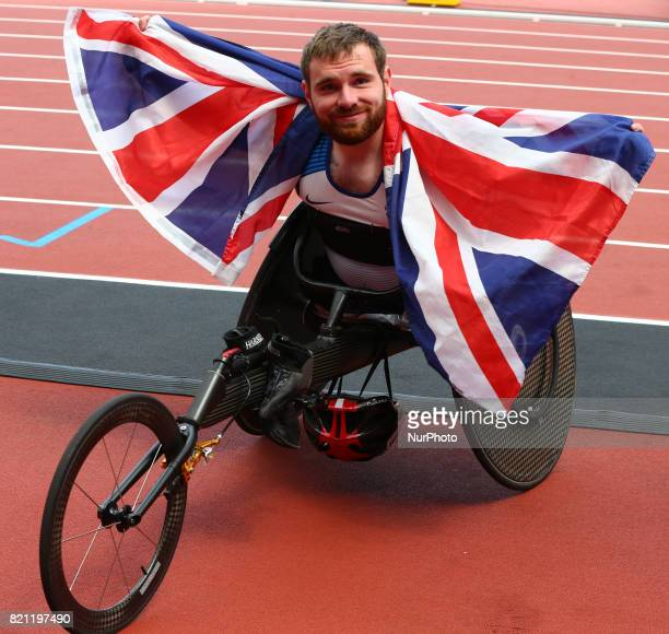 Mickey Bushell of Great Britain after Men's 100m T53 Final during World Para Athletics Championships at London Stadium in London on July 23 2017