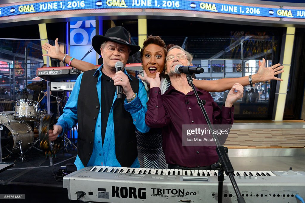 AMERICA Mickey Dolenz and Peter Tork of The Monkees currently on a 50th anniversary tour perform on GOOD MORNING AMERICA 6/1/16 airing on the ABC...