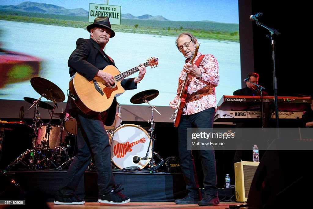 Mickey Dolenz and Peter Tork of The Monkees perform live on stage at Town Hall on June 1 2016 in New York City