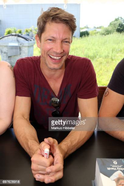 Mickey Hardt poses during the celebration of 2500 episodes of 'Rote Rosen' on June 18 2017 in Lueneburg Germany