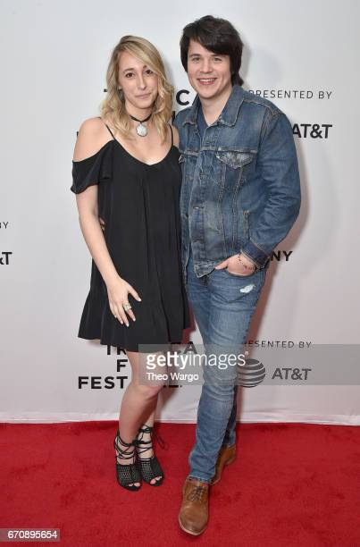 Mickey Keating and guest attend the 'Psychopaths' Premiere during 2017 Tribeca Film Festival at Cinepolis Chelsea on April 20 2017 in New York City