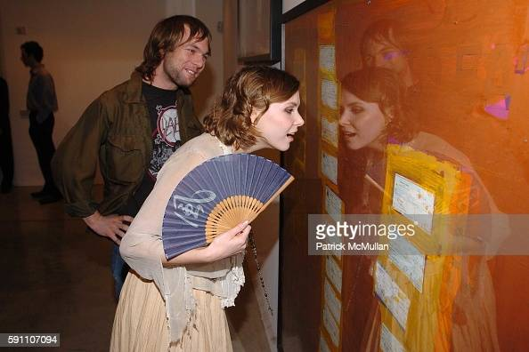 Mickey Madden and Z Berg attend The Opening Reception of Richard Prince Check Paintings at Gagosian Gallery on February 24 2005 in Beverly Hills...