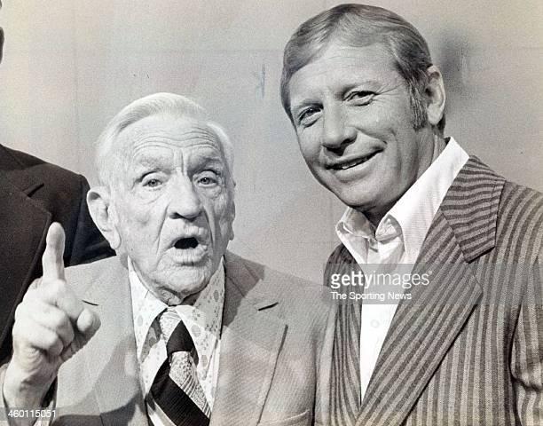 CITY NY SEPTEMBER 27 1953 Mickey Mantle with Casey Stengel circa 1970