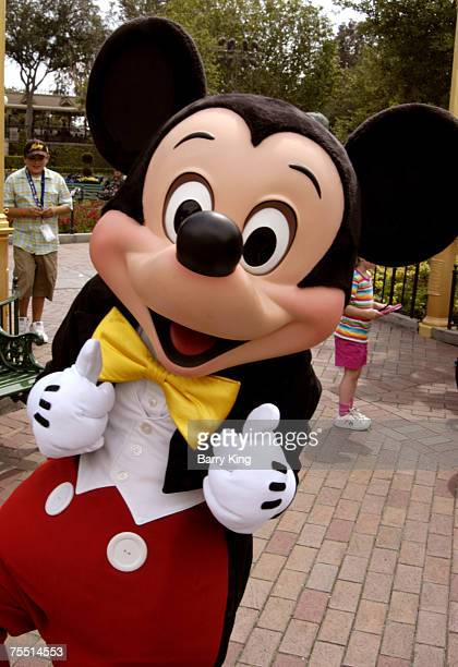 Mickey Mouse at the Disneyland Resort in Anaheim CA