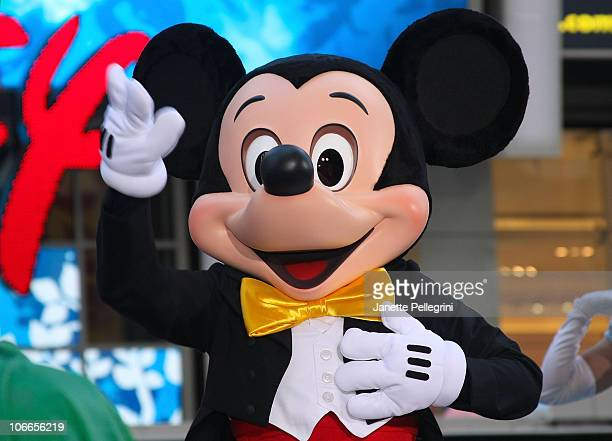 Mickey Mouse attends the grand opening of the Times Square Disney Store on November 9 2010 in New York City