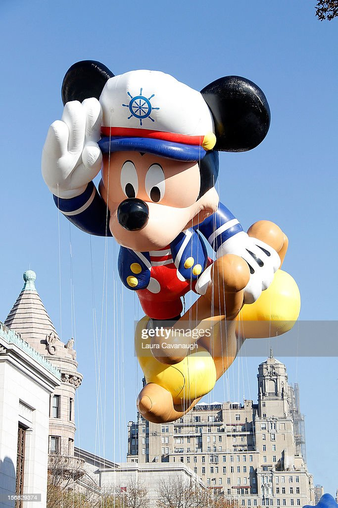 Mickey Mouse balloon floats at the 86th Annual Macy's Thanksgiving Day Parade on November 22, 2012 in New York City.