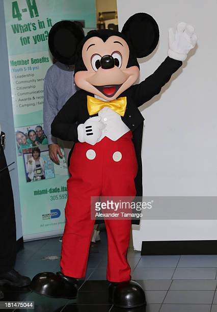 Mickey Mouse is seen at the Disney Store grand opening at Miami International Mall on September 21 2013 in Miami Florida