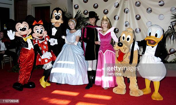 Mickey Mouse Minnie Mouse Goofy Cinderella Prince Phillip Princess Aurora Pluto and Donald Duck