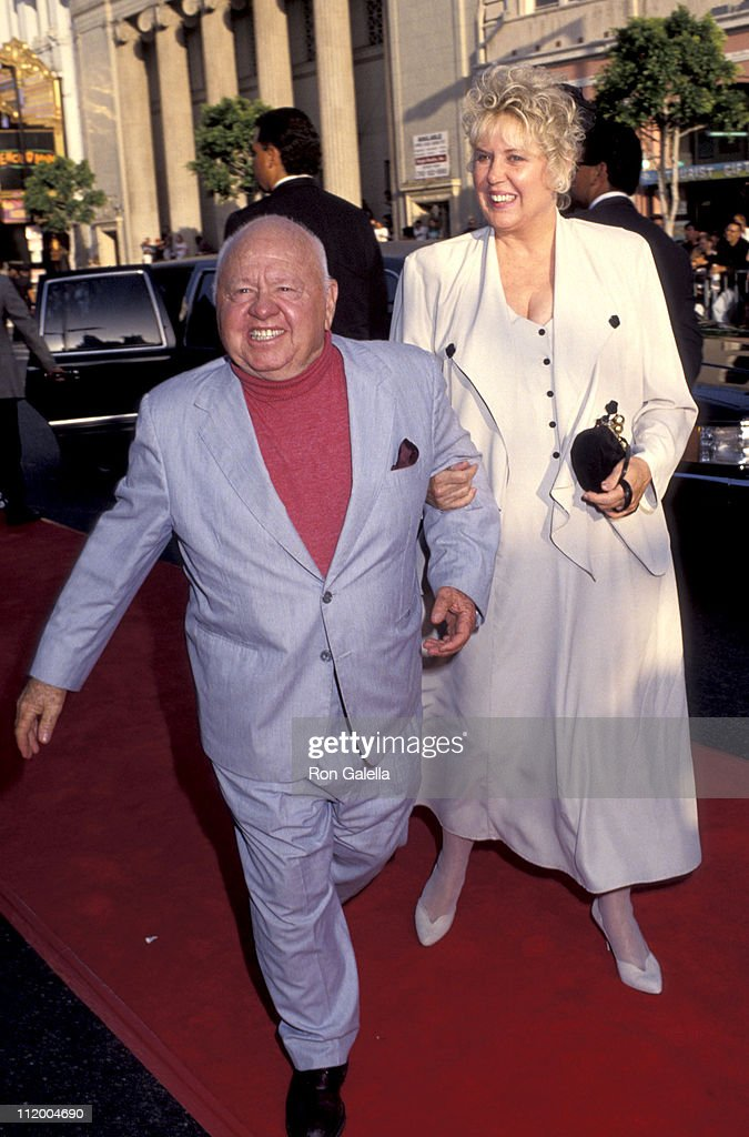 <a gi-track='captionPersonalityLinkClicked' href=/galleries/search?phrase=Mickey+Rooney&family=editorial&specificpeople=91553 ng-click='$event.stopPropagation()'>Mickey Rooney</a> and Jan Chamberlain during 'Batman Returns' Hollywood Premiere at Mann's Chinese Theatre in Hollywood, California, United States.