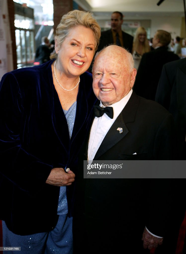Mickey Rooney and wife Jan Chamberlin during 'So The World May Hear' Sponsored by the Stakey Hearing Foundation at Rivercentre in St Paul Minnesota...