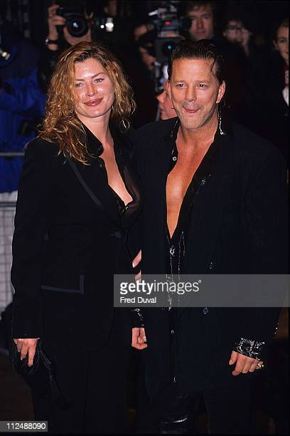 Mickey Rourke and Carrie Otis during Mickey Rourke and Carrie Otis Sighting November 1 1995 at London in London United Kingdom