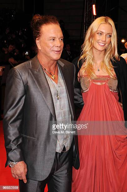 Mickey Rourke arrives at the Orange British Academy Film Awards 2010 at The Royal Opera House on February 21 2010 in London England