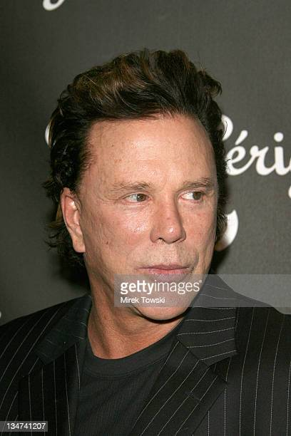 Mickey Rourke during Dom Perignon Rose Vintage 1996 Champagne by Karl Lagerfeld Launch Party at Private Residence Beverly Hills in Beverly Hills...