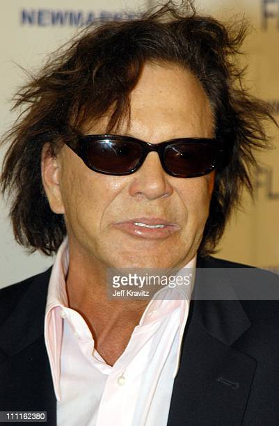 Mickey Rourke during Spun Premiere at Pacific Cinerama Dome Theater in Hollywood CA United States