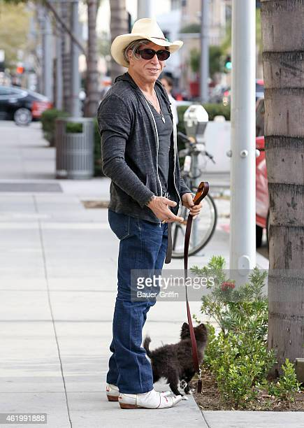 Mickey Rourke is seen in Beverly Hills on January 22 2015 in Los Angeles California
