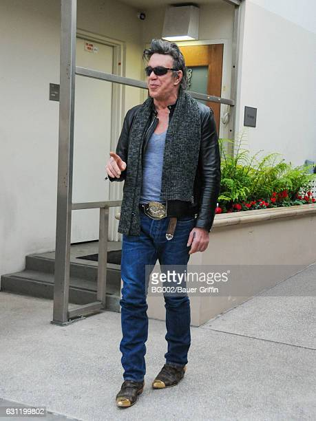 Mickey Rourke is seen on January 07 2017 in Los Angeles California