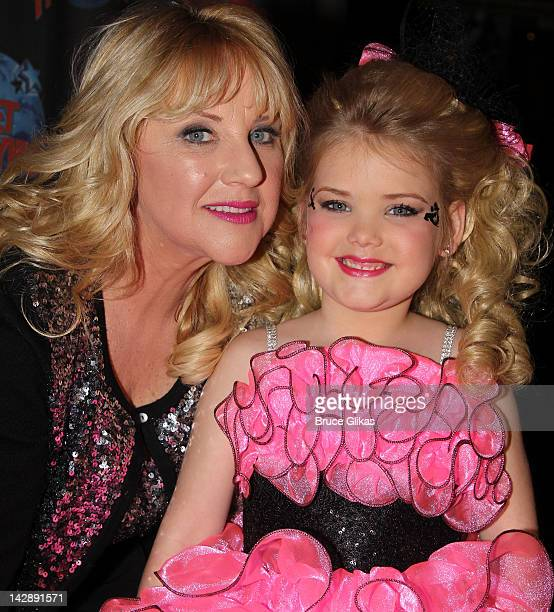 Micki Wood and daughter Eden Wood pose as she promotes Logo's 'Eden's World' at Planet Hollywood Times Square on April 13 2012 in New York City