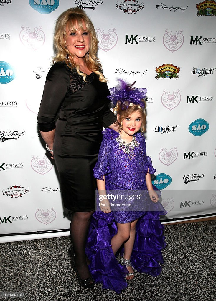 Mickie Wood and Eden Wood attend the 'Eden's World' premiere party at Room Fifty5 at Dream Midtown on April 16 2012 in New York City