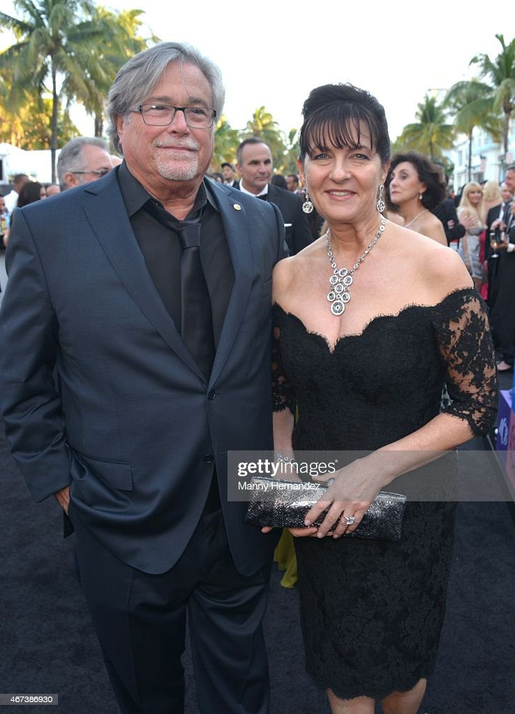 <a gi-track='captionPersonalityLinkClicked' href=/galleries/search?phrase=Micky+Arison&family=editorial&specificpeople=544851 ng-click='$event.stopPropagation()'>Micky Arison</a> and Madeleine Arison attends Miami Heat Black Tie On Ocean Drive Gala at Betsy Hotel Rooftop on March 14, 2015 in Miami Beach, Florida.