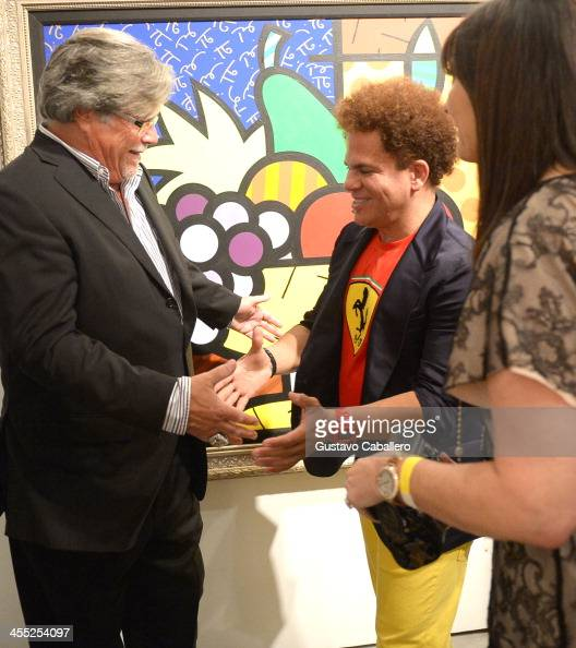 Micky Arison Artist Romero Britto and Madeleine Arison attend Britto Central Gallery's 20th Anniversary Celebration on December 11 2013 in Miami...