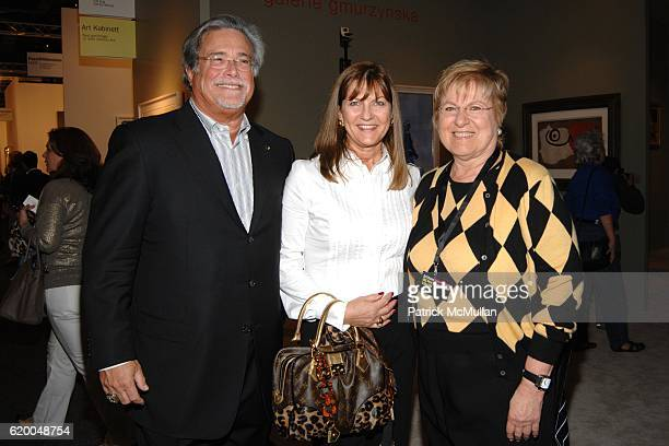 Micky Arison Madeleine Arison and Lin Arison attend GALERIE GMURZYNSKA at Art Basel Miami Beach 2008 at Miami Beach Convention Center on December 3...