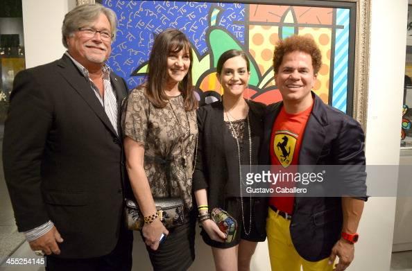 Micky Arison Madeleine Arison Kelly Arison and Artist Romero Britto attend Britto Central Gallery's 20th Anniversary Celebration on December 11 2013...