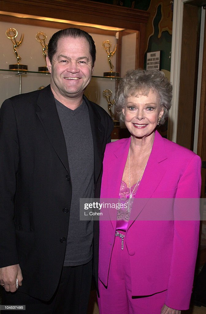 Micky Dolenz & June Lockhart during Au Pair Premiere at 20th Century Fox Studio Commissary in Los Angeles, California, United States.