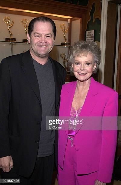 Micky Dolenz June Lockhart during Au Pair Premiere at 20th Century Fox Studio Commissary in Los Angeles California United States