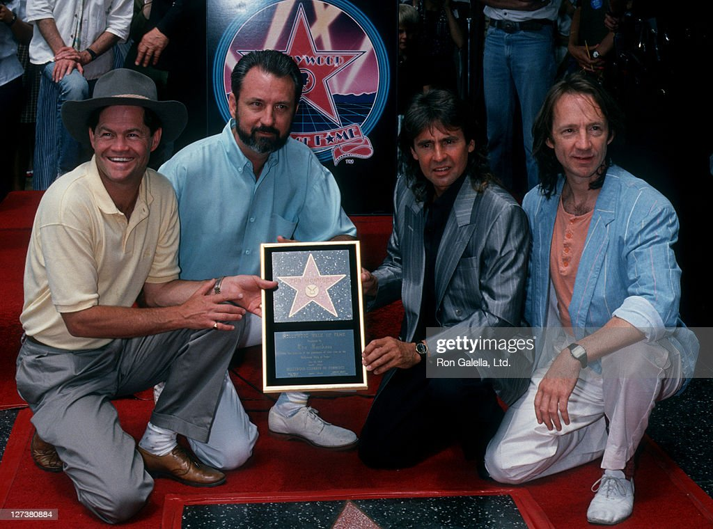 Micky Dolenz Michael Nesmith Davy Jones and Peter Tork of The Monkees receive a Hollywood Walk of Fame Star on July 10 1989 at the Hollywood Walk of...