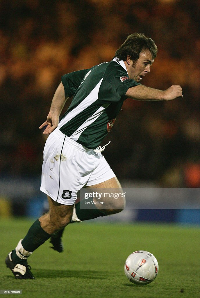 Micky Evans Of Plymouth Argyle In Actionduring The FA Cup Third Round Match Between