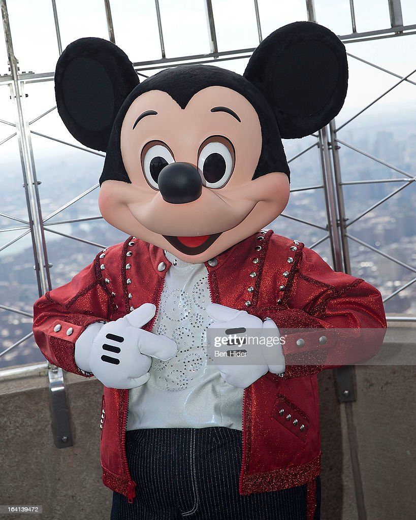 Micky Mouse of Disney Live! MickeyÕs Music Festival visits The Empire State Building on March 20, 2013 in New York City.